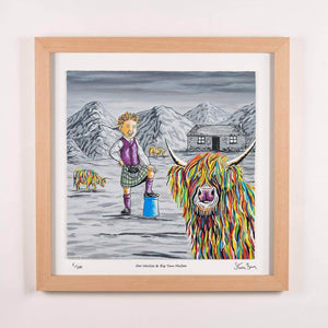 Oor Wullie & Big Tam McCoo - Framed Limited Edition Floating Prints