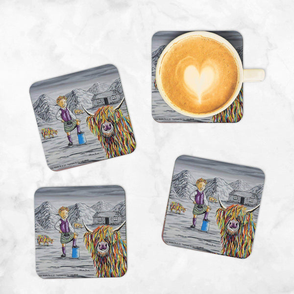 Oor Wullie & Big Tam McCoo - Set of 4 Coasters