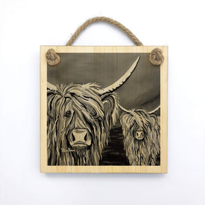 Rab & Isa McCoo The Noo - Wooden Wall Plaque