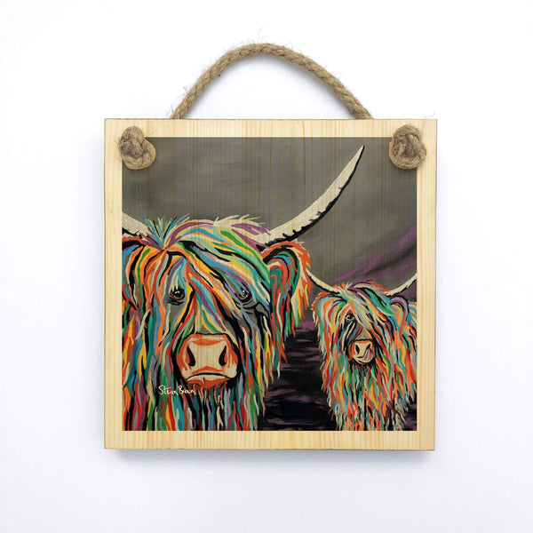 Rab & Isa McCoo - Wooden Wall Plaque