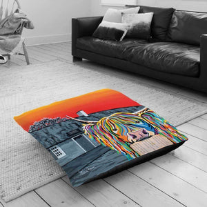 Rabbie McCoo - Floor Cushion