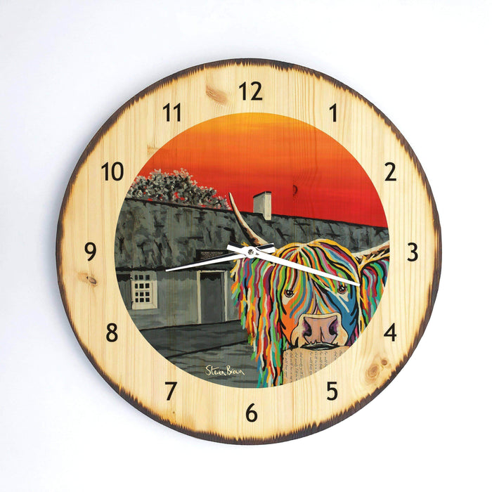 Rabbie McCoo - Wooden Clock
