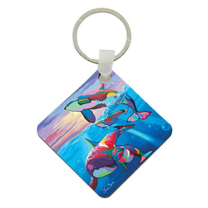 Save the Ocean Families - Acrylic Keyring
