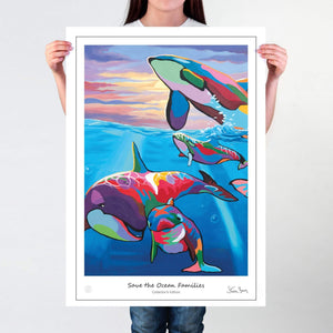 Save The Ocean Families - Collector's Edition Prints