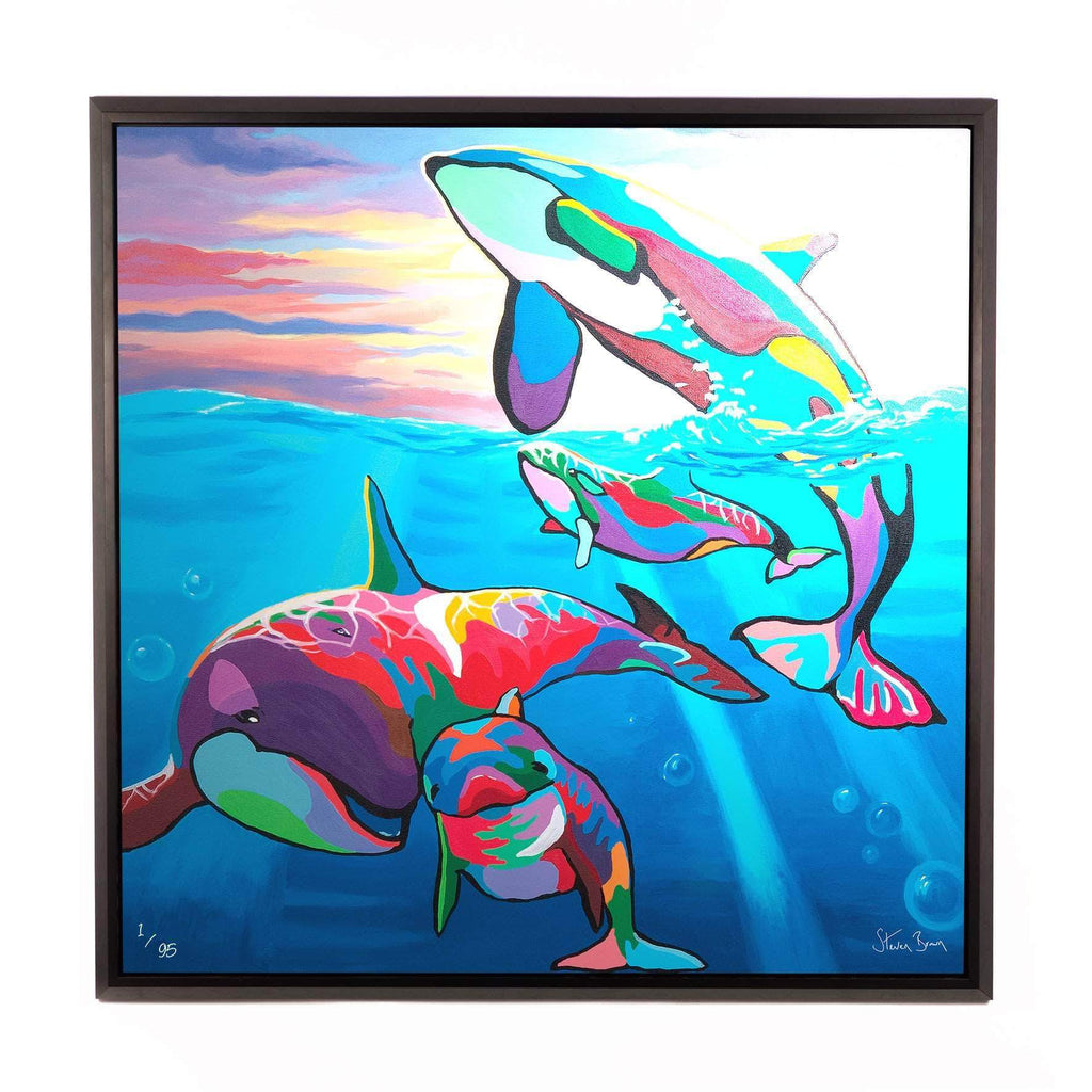 Save the Ocean Families - Framed Limited Edition Aluminium Wall Art