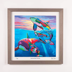 Save the Ocean Families - Framed Limited Edition Floating Prints