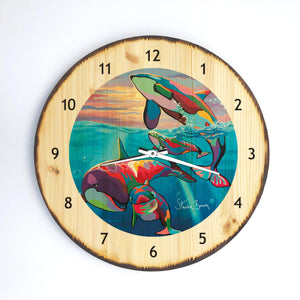 Save the Ocean Families - Wooden Clock