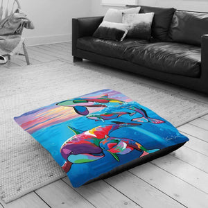Save The Oceans Families - Floor Cushion