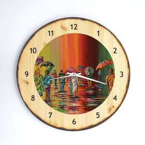 Scottish Autumn - Wooden Clock