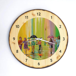 Scottish Spring - Wooden Clock