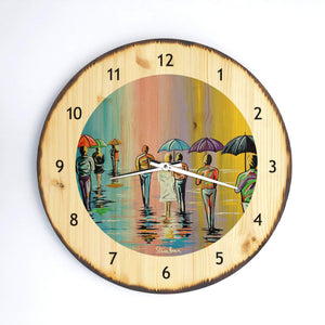 Scottish Summer- Wooden Clock