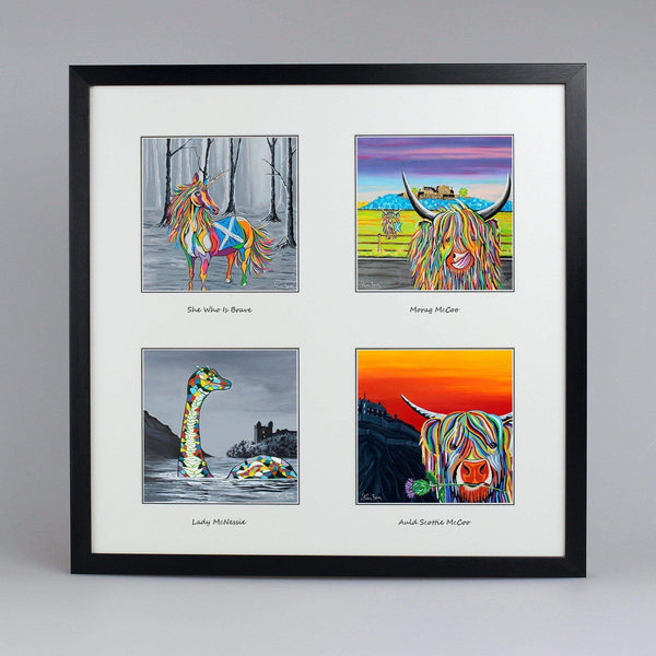 Scottish Treasures Collection - Quad Framed