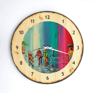 Scottish Winter - Wooden Clock