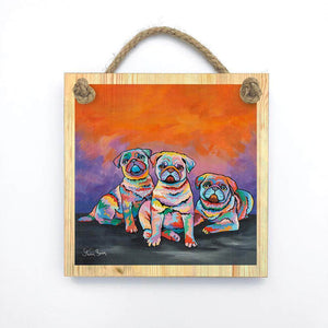 Scotty, Billy & Pugz McDug - Wooden Wall Plaque