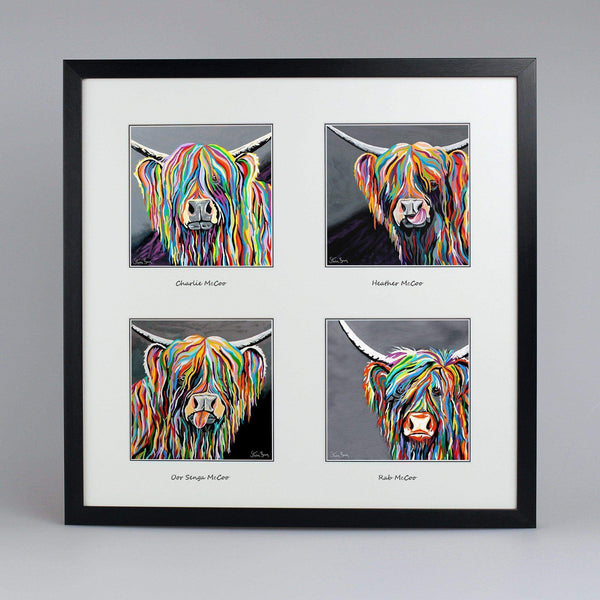 Shades Of Grey Collection - Quad Framed