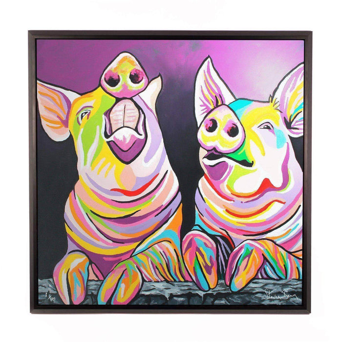 Sharon & Tracy McFarm - Framed Limited Edition Aluminium Wall Art