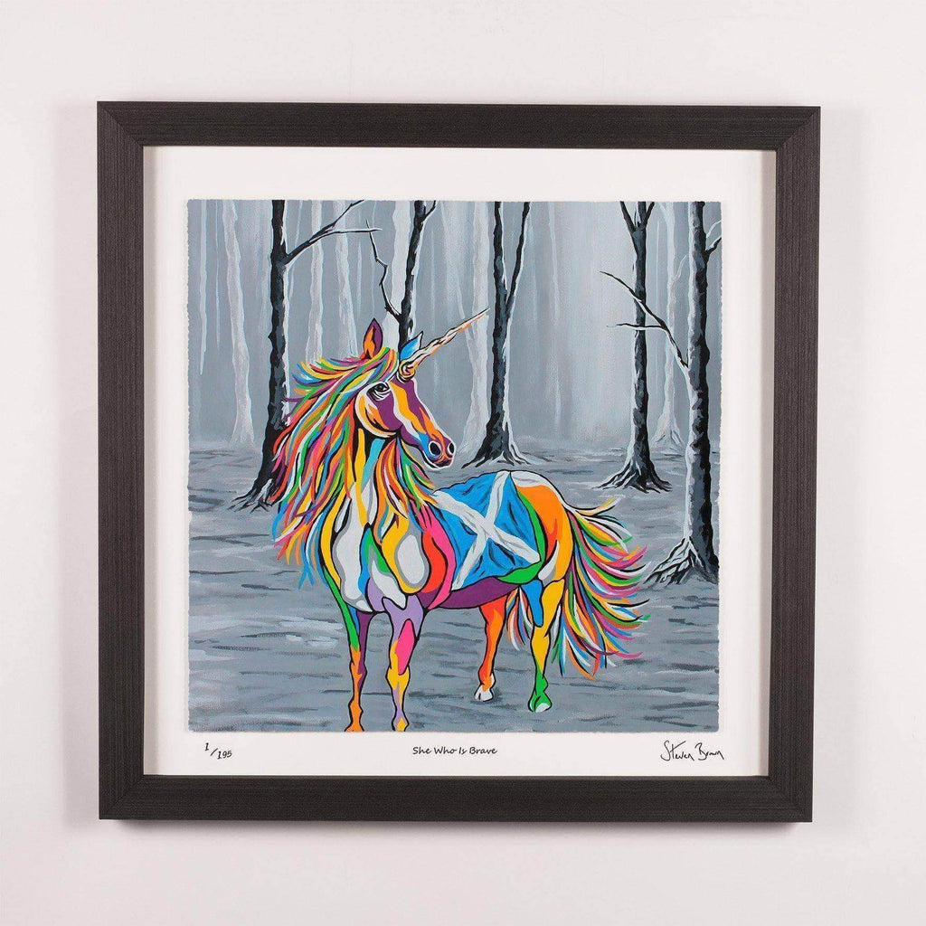 She Who is Brave - Framed Limited Edition Floating Prints