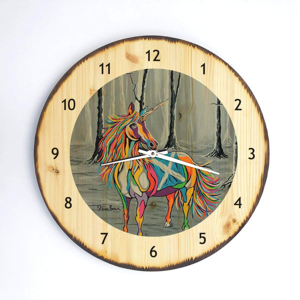 She Who is Brave - Wooden Clock