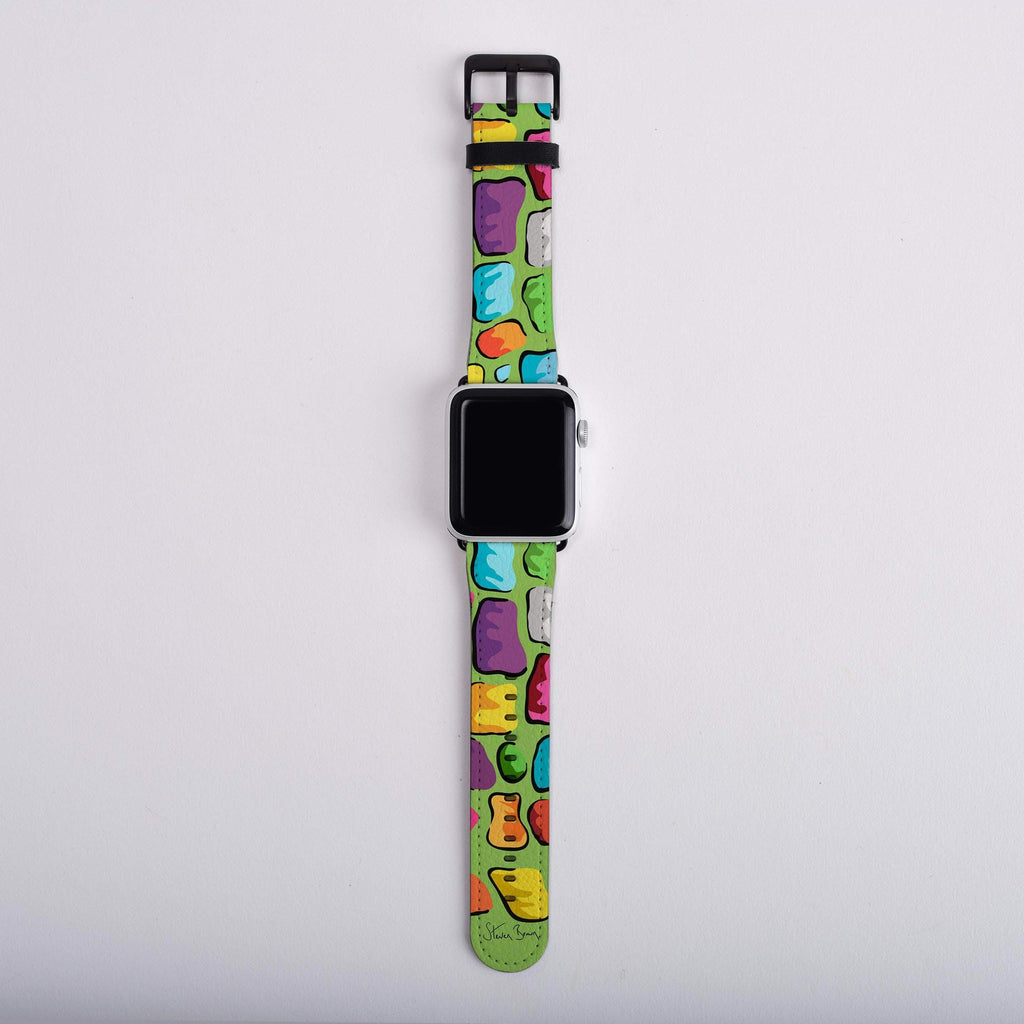 Signature Giraffe (Green) - Apple Watch Strap