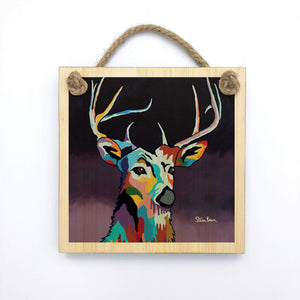 Tam MacDeer - Wooden Wall Plaque