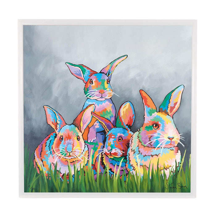 The McBunnies - Framed Limited Edition Aluminium Wall Art