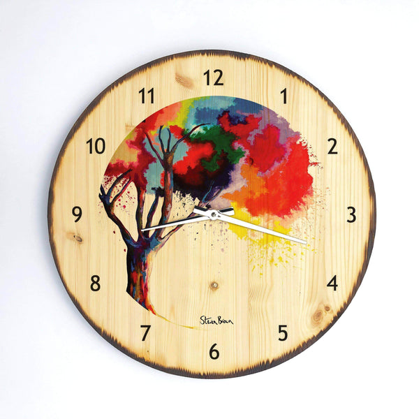 Tree Of Aura - Wooden Clock
