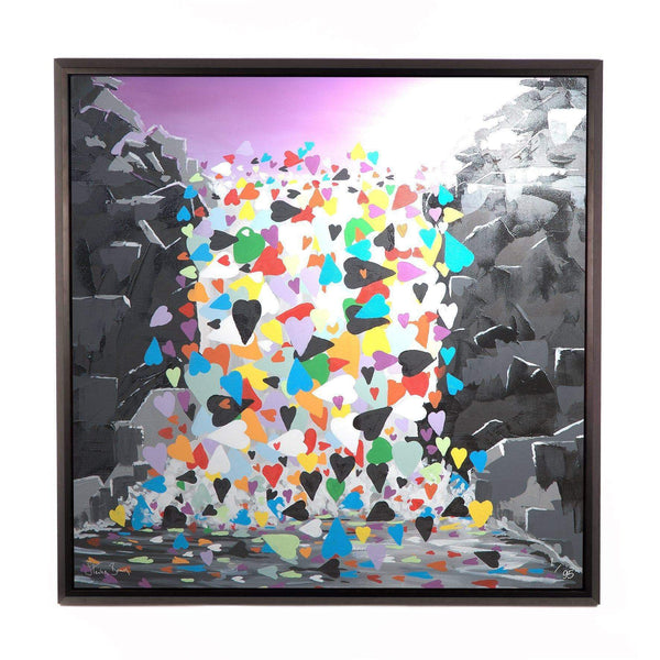 Waterfall Hearts - Framed Limited Edition Aluminium Wall Art