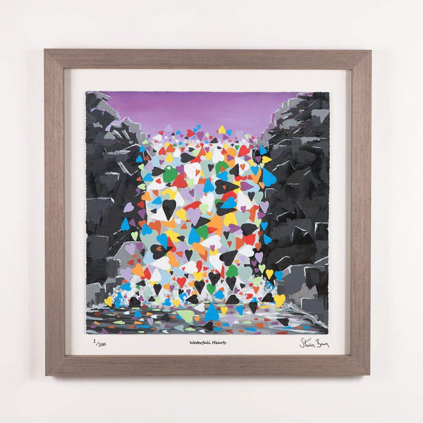Waterfall Hearts - Framed Limited Edition Floating Prints