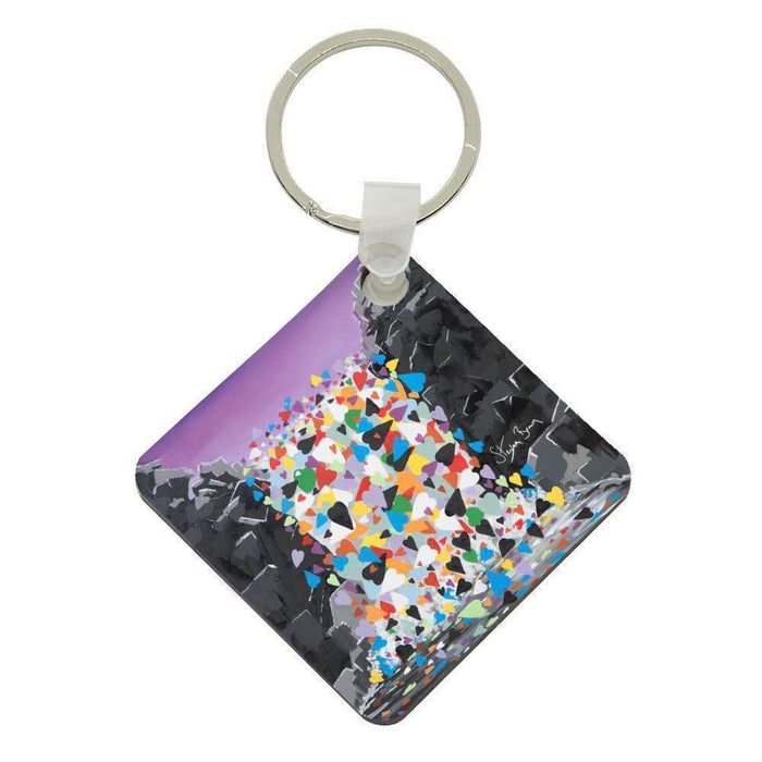 Waterfall Hearts - Acrylic Keyring