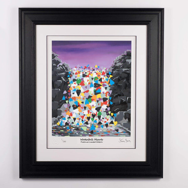 Waterfall Hearts - Platinum Limited Edition Prints