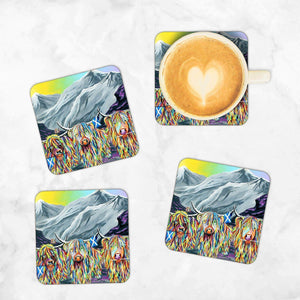 William Rabbie & Wallace McCoo - Set of 4 Coasters