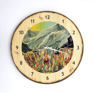 William Rabbie Wallace McCoo- Wooden Clock