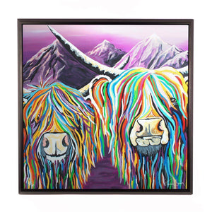 Wullie & Maggie McCoo - Framed Limited Edition Aluminium Wall Art