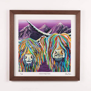 Wullie & Maggie McCoo - Framed Limited Edition Floating Prints