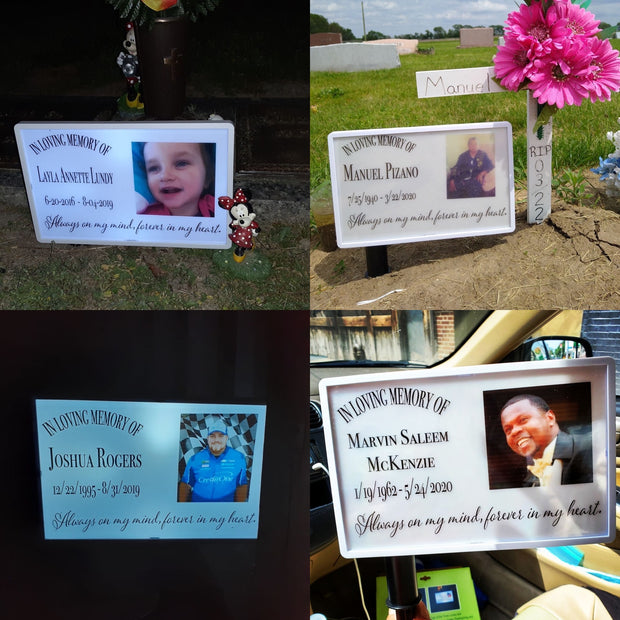 Custom Solar Lighted Memorial