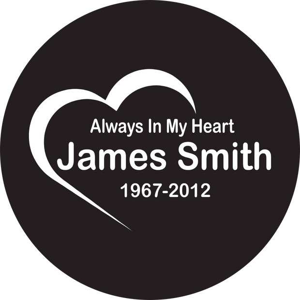 Custom Always In My Heart Decal