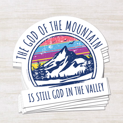 God of the Mountain Sticker
