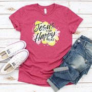 Jesus is my Happy Place Short Sleeve Shirt