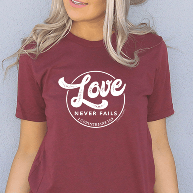 Love Never Fails Short Sleeve Shirt