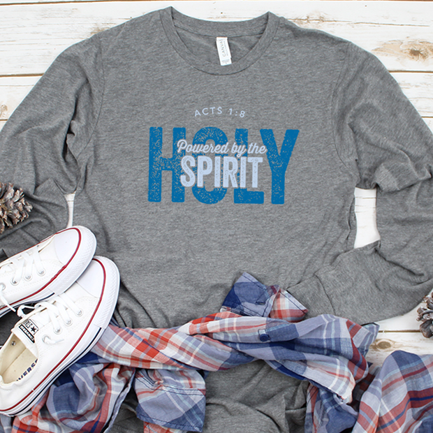 Powered by the Holy Spirit Long Sleeve Shirt