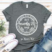 Proverbs 28:1 (Jogging)  Short Sleeve Shirt