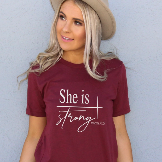 She Is Strong Short Sleeve Shirt