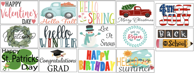 Interchangeable Design Inserts For The Holiday Sign