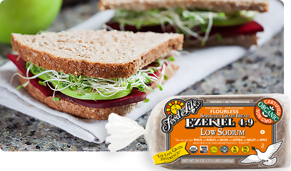 EZEKIEL 4:9® LOW SODIUM SPROUTED WHOLE GRAIN BREAD