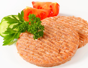 Raw Chicken Burgers