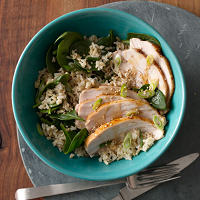 Turkey, Spinach & White Rice