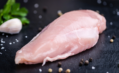 CASE OF PORTIONED CHICKEN BREASTS