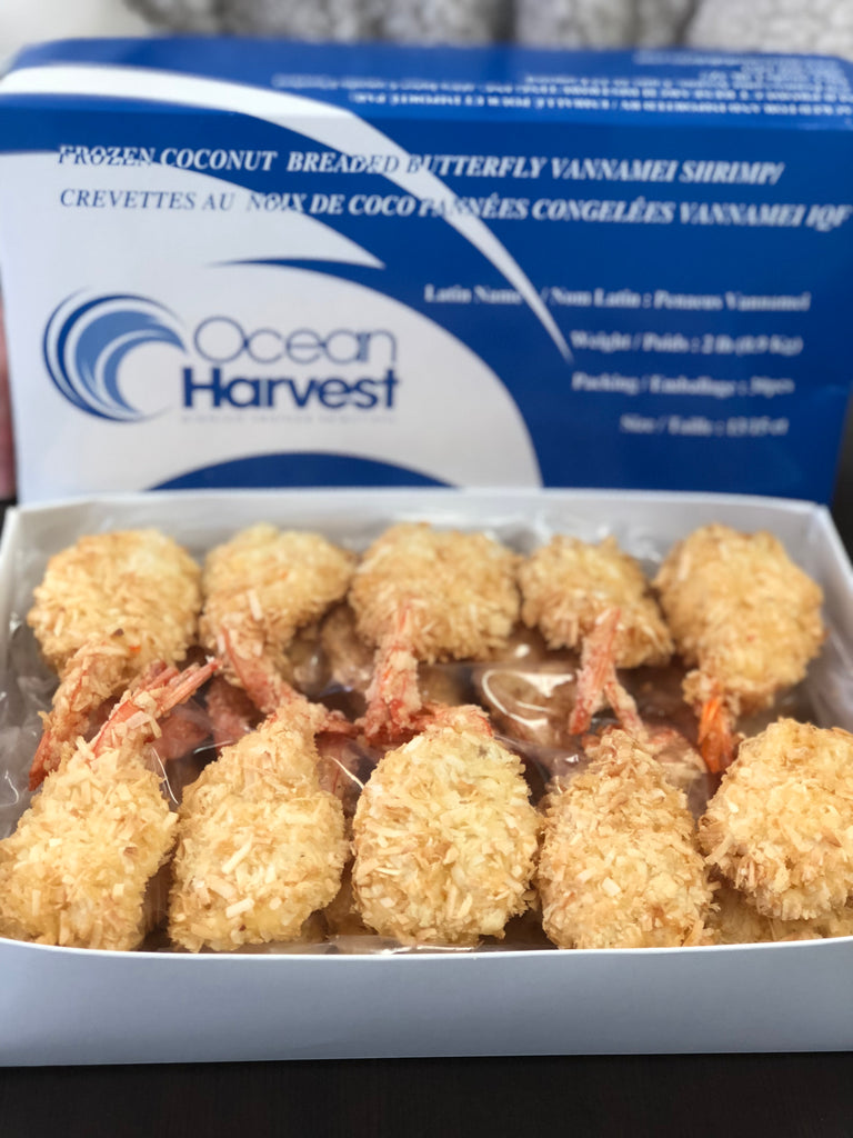 COCONUT BREADED BUTTERFLY SHRIMP (30PC BOX)