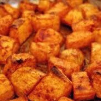 Sweet Potato - Cooked Chunks: Peeled