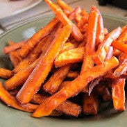 Sweet Potato - Cooked Fries: Unpeeled